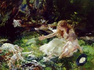 And the Fairies Ran Away with their Clothes by Charles Sims