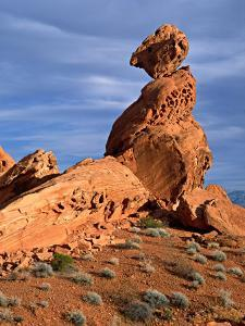 Balance Rock, Valley of Fire State Park, Nevada, USA by Charles Sleicher