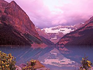 Dawn at Lake Louise, Alberta, Canada by Charles Sleicher