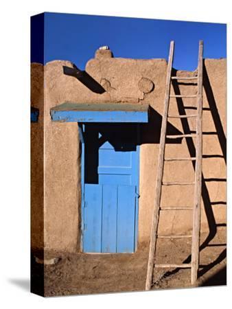 House in the Taos Pueblo, Taos, New Mexico, USA
