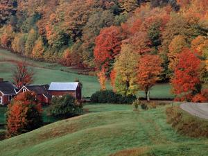Jenne Farm in the Fall, near Woodstock, Vermont, USA by Charles Sleicher