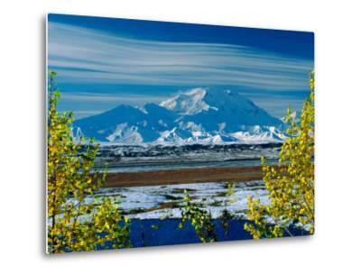 Mt. Denali After First Snowfall of the Summer, Denali National Park, Alaska, USA