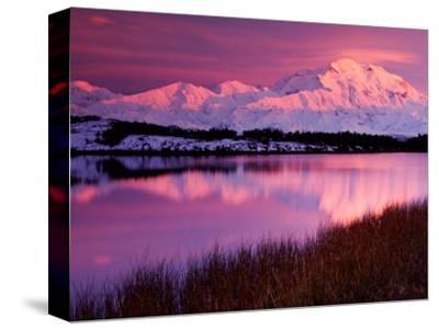 Mt. Denali at Sunset from Reflection Pond, Alaska, USA