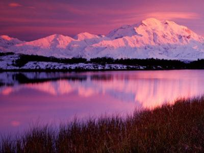 Mt. Denali at Sunset from Reflection Pond, Alaska, USA by Charles Sleicher