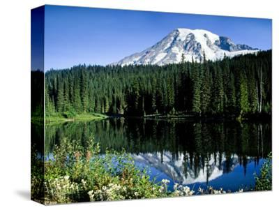 Mt. Rainier Reflected in Reflection Lake, Washington, USA