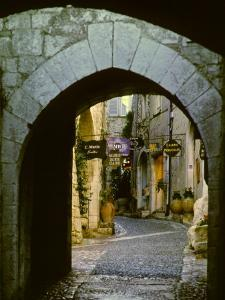 Street Corner and Archway, St. Paul de Vence, France by Charles Sleicher