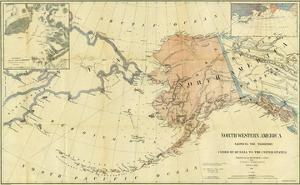 Northwestern America Showing the Territory Ceded by Russia to the United States, c.1867 by Charles Sumner