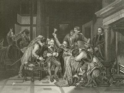 Charles the First in the Guard Room-Hippolyte Delaroche-Giclee Print