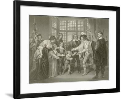 Charles the First with His Children--Framed Giclee Print
