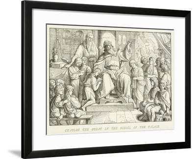 Charles the Great in the School of the Palace--Framed Giclee Print