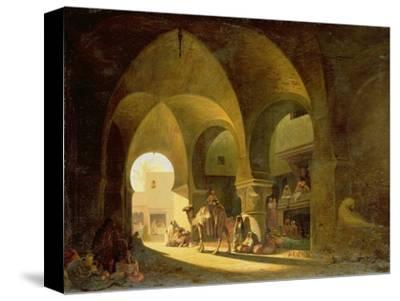 Numerous Figures in a North African Bazaar, 1839