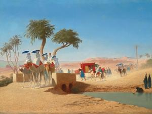 The Empress Eugenie Visiting the Pyramids by Charles Theodore Frere