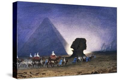 Visit to Sphinx in Giza, from Empress Eugenie of France's Journey in Egypt