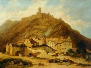 St Goar on the Rhine by Charles Tomkins