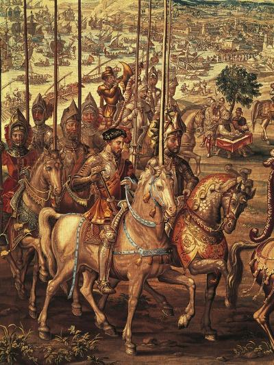 Charles V Reviewing His Troops at Barcelona Prior to His Expedition Against Tunis--Giclee Print