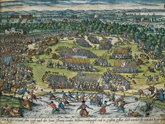 Charles V's Army Against Tunis, 1535-Franz Hogenberg-Giclee Print