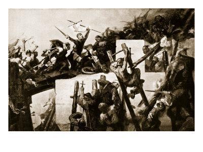 Godfrey De Bouillon at the Siege of Jerusalem