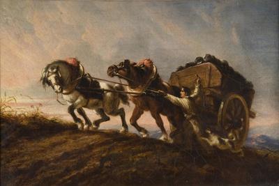 Horses Straining at a Load, 1864