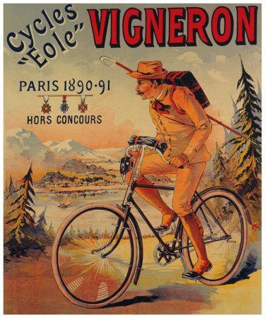 Acatene Bicycles 1890/'s Paris Advertising Poster 18x24