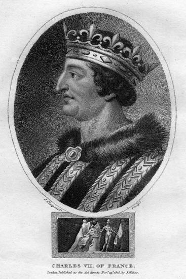 Charles VII, King of France-J Chapman-Giclee Print