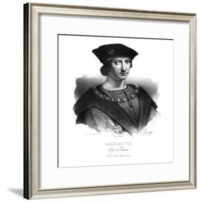 Charles VIII, King of France, (c1820s)-Maurin-Framed Giclee Print