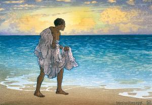 Hawaiian Fisherman, c.1925 by Charles W. Bartlett