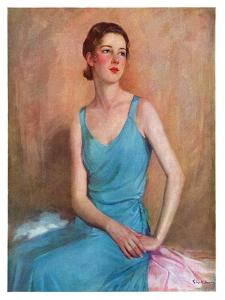 """Blue Dress,""February 4, 1933 by Charles W. Dennis"