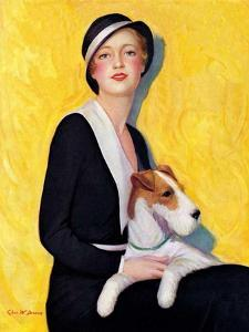 """Woman and Airedale,""May 13, 1933 by Charles W. Dennis"