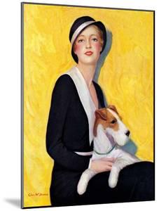 """""""Woman and Airedale,""""May 13, 1933 by Charles W. Dennis"""