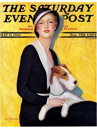 """""""Woman and Airedale,"""" Saturday Evening Post Cover, May 13, 1933"""