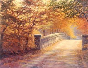 Autumn Bridge by Charles White