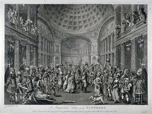 Scene of a Masquerade at the Pantheon, Oxford Street, Westminster, London, 1773 by Charles White
