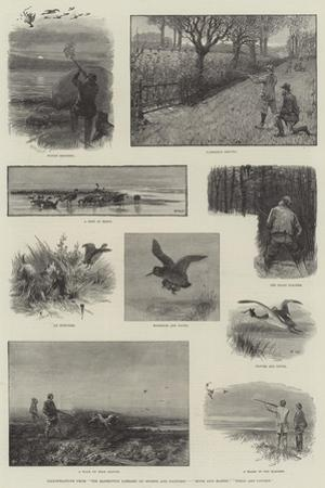 Illustrations from The Badminton Library of Sports and Pastimes, Moor and Marsh, Field and Covert