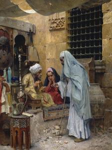 In the Bazaar by Charles Wilda