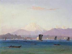 A View of Mount Fuji by Charles Wirgman