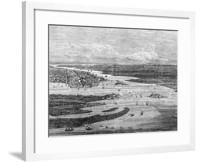 Charleston Harbour, South Carolina, with Sunken Ships--Framed Giclee Print