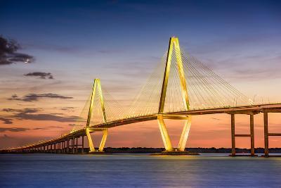 Charleston, South Carolina, USA at Arthur Ravenel Jr. Bridge.-SeanPavonePhoto-Photographic Print