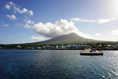 Charlestown with Mount Nevis in Background-Robert Harding-Photographic Print