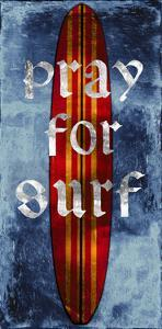 Pray For Surf, Surf Board by Charlie Carter