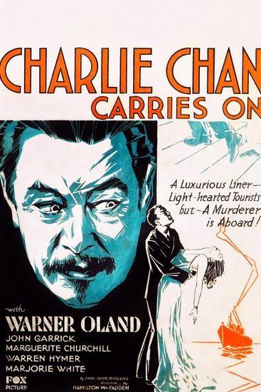 Charlie Chan Carries On--Art Print