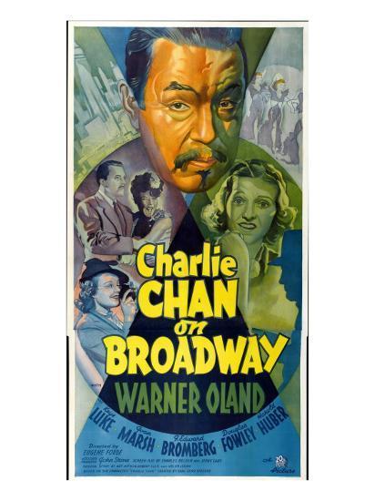Charlie Chan on Broadway, Top Center: Warner Oland, 1937--Photo