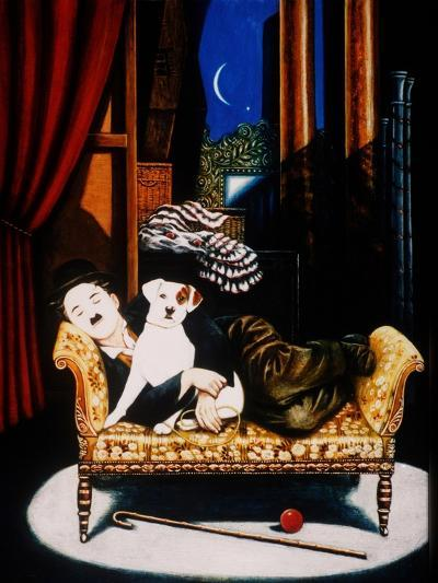 Charlie Chaplin and 'Scraps', 1992-Frances Broomfield-Giclee Print
