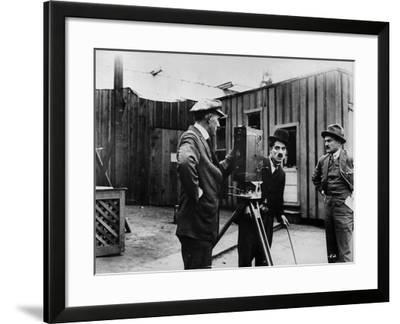 Charlie Chaplin Playing Charlot--Framed Photographic Print