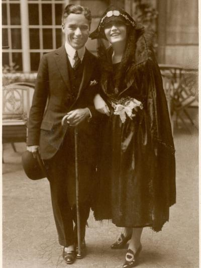 Charlie Chaplin (Sir Charles Spencer) English Comedian and Actor with Pola Negri--Photographic Print