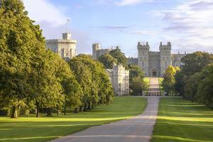 The Long Walk with Windsor Castle in the Background, Windsor, Berkshire, England by Charlie Harding