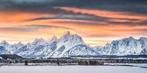 A Dramatic Sky Above Teton National Park by Charlie James