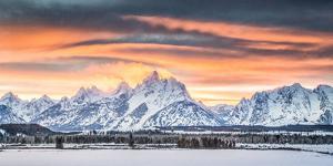 A Dramatic Sky Above Teton National Park by Charlie James