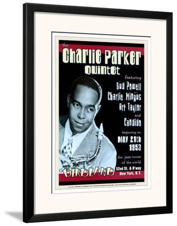 Charlie Parker Quintet at Birdland, New York City, 1953-Dennis Loren-Framed Art Print