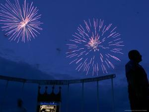 Fireworks at Kauffman Stadium, Kansas City, Missouri by Charlie Riedel