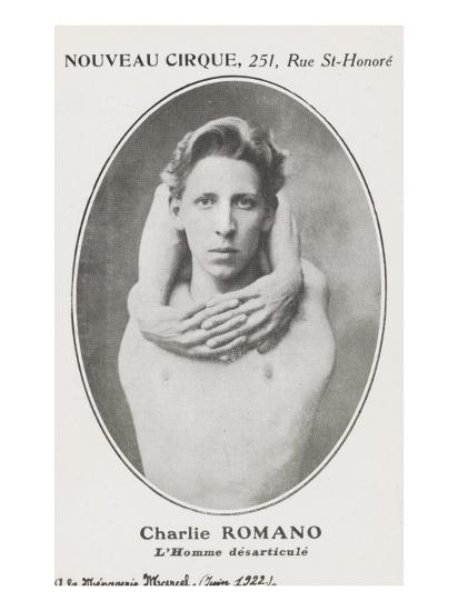 Charlie Romano. L'homme désarticulé.--Giclee Print